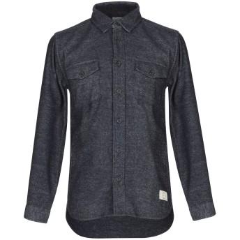 《期間限定セール開催中!》SUIT Est. 2004 メンズ シャツ ダークブルー S ポリエステル 95% / ウール 5%