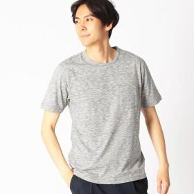 コムサイズム COMME CA ISM スペースダイ クルーネックTシャツ (グレー)