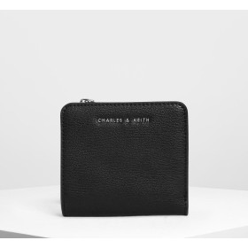 【再入荷】クラシックスナップボタン スモールウォレット / Classic Snap Button Small Wallet (Black)