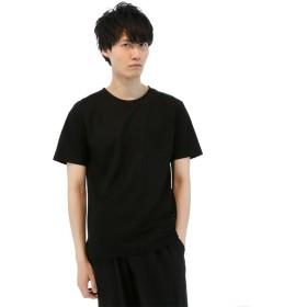 【33%OFF】 タカキュー 布帛見えカットクルーネックTシャツ メンズ ブラック L 【TAKA-Q】 【セール開催中】