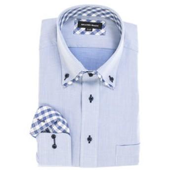 【GRAND-BACK:トップス】【大きいサイズ】グランバック/GRAND-BACK 形態安定2枚衿ドゥエボットーニボタンダウン長袖ビジネスドレスシャツ
