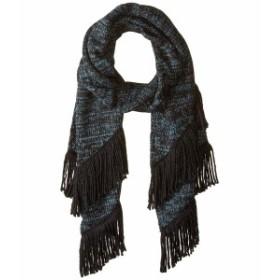 レベッカミンコフ レディース マフラー・ストール・スカーフ アクセサリー Subtle Mouline Muffler Mallard Blue/Black/Black