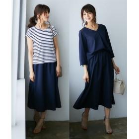 夏から秋まで着回せる!まるごと3点セット(ブラウス+Tシャツ+スカート) (ワンピース),dress