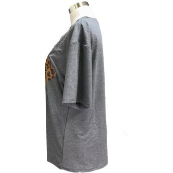 Tシャツ - And Kawaii レディース 半袖 トップス カットソー シンプル カジュアル ロゴプリント 半袖Tシャツ 春新作