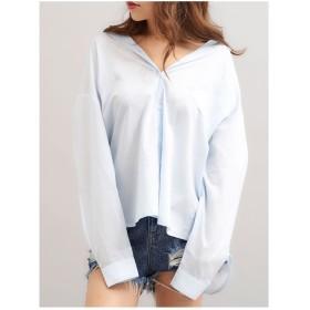MINK TOKYO レギュラーカラーシャツ ブルー