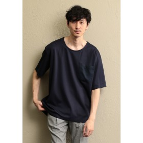 LOVELESS 【LF】MEN カットソーポンチクルーネックシャツ その他 カットソー,ネイビー1