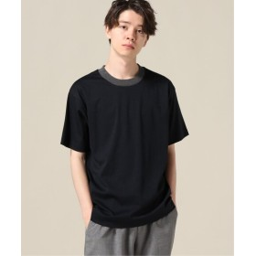 417 EDIFICE トルファンスムース エリハイショクTシャツ ネイビー M