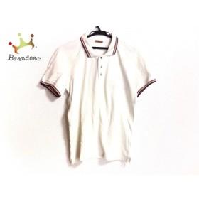 ジョンガリアーノ 半袖ポロシャツ サイズS レディース アイボリー×パープル×マルチ 新着 20190605