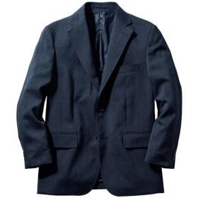 【メンズ】 ご家庭で洗える!グレンチェックのメンズジャケット ゆったり身幅・袖丈ぴったりサイズ ■カラー:ネイビー ■サイズ:M,L