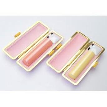 銀行印・認印セット 銀行印13.5mm・認印12.0mm パールスティック ピンク・ファンシーケース付