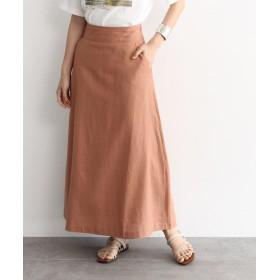 OZOC(オゾック) [洗える]麻混Aラインマキシスカート