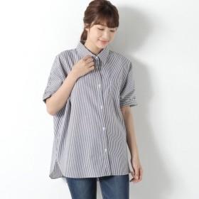 シャツ ブラウス レディース 防汚加工◎ゆったりドルマンシャツ 「ブラック」