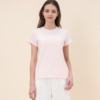 AIGLE レディース レディース 抗菌防臭加工 ポリジン W'sロゴTシャツ ZTF002C CAMEO PINK (012) Tシャツ