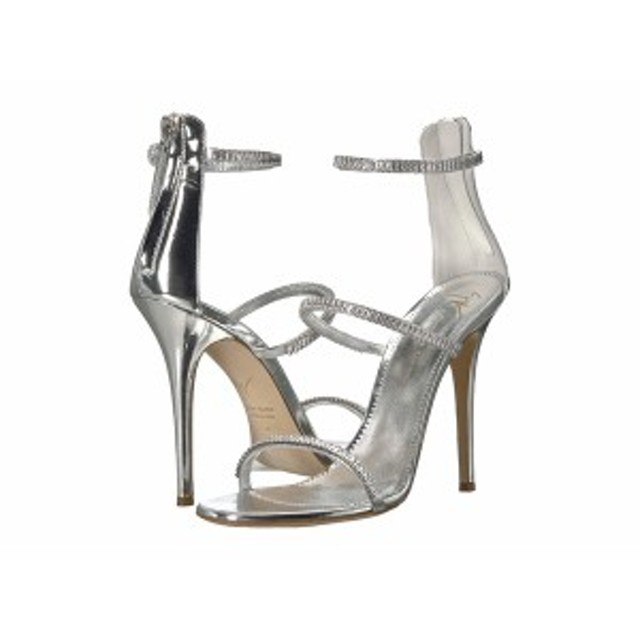 3bd1204e32065 ジュゼッペザノッティ レディース ヒール シューズ Harmony Sparkle Rhinestone Chain Strap Heel Sandal  Metal Silver