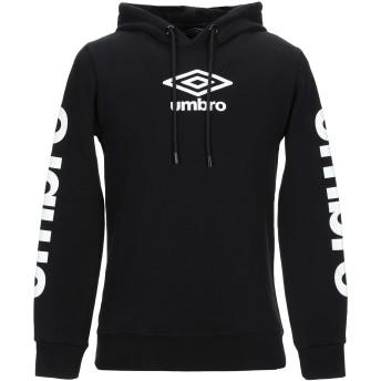 《9/20まで! 限定セール開催中》UMBRO メンズ スウェットシャツ ブラック S コットン 100%