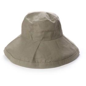 スカラ SCALA レディースUVカット帽子LC399R GIANA BOW (オリーブ)