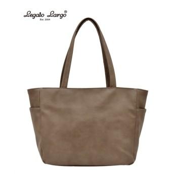 Legato Largo(レガートラルゴ)フェイクレザー10ポケットトートバッグ(A4対応) トートバッグ・手提げバッグ, Bags