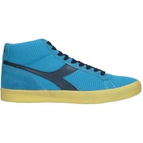 《セール開催中》DIADORA メンズ スニーカー&テニスシューズ(ハイカット) アジュールブルー 8 革 / 紡績繊維