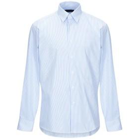 《セール開催中》TRU TRUSSARDI メンズ シャツ スカイブルー 40 コットン 100%