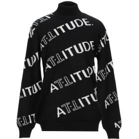 《期間限定セール開催中!》ATTITUDE. メンズ タートルネック ブラック XL レーヨン 52% / ポリエステル 26% / ナイロン 22%