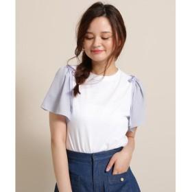 Bon mercerie / ボン メルスリー 【WEB・一部店舗限定】DEBB(デプ)ストライプ袖Tシャツ