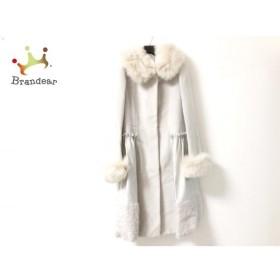 コトゥー コート サイズ38 M レディース 美品 ライトグレー×ベージュ フォックスファー/冬物 新着 20190605