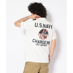 (AVIREX/アヴィレックス)#チャージャーズ ポロシャツ/S/S CARGERS POLO SHIRT/メンズ WHITE