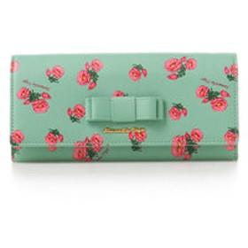 【Samantha Vega:財布/小物】フラワープリント かぶせ長財布