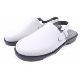 フットザコーチャー foot the coacher 美品 サンダル ストラップ レザー 8 白 ホワイト 171205 btm0524 メンズ