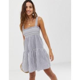 エイソス レディース ワンピース トップス ASOS DESIGN trapeze mini cotton sundress in stripe Multi
