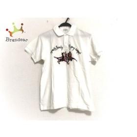 カステルバジャックスポーツ 半袖ポロシャツ サイズ1 S メンズ 美品 白×マルチ   スペシャル特価 20190916