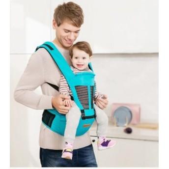 ベビー抱っこ紐 ヒップシート付き 対象月齢0ヶ月~36ヶ月 ヨコ抱っこ/対面抱っこ/前向き抱き/おんぶ/腰抱っこ 通気 通年用 夏さ対策