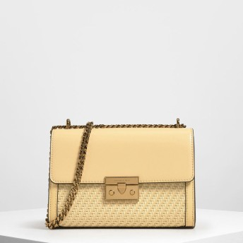 CHARLES&KEITH Woven Detail Clutch