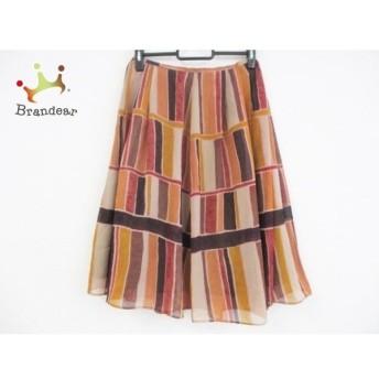 ホコモモラ JOCOMOMOLA スカート サイズ40 XL レディース ベージュ×ブラウン×マルチ 値下げ 20190904