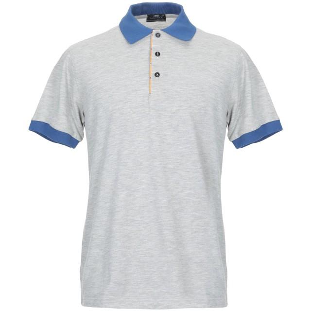 《期間限定 セール開催中》JSW JEANS STORES WIDE メンズ ポロシャツ グレー L コットン 100%
