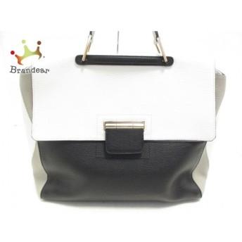 フルラ FURLA ハンドバッグ 美品 アルテーシア 白×黒×グレー レザー スペシャル特価 20190826