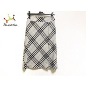 バーバリーロンドン スカート サイズ36 M レディース 美品 グレー×黒×イエロー チェック柄   スペシャル特価 20190821