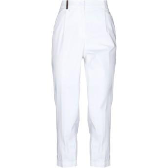 《セール開催中》PESERICO レディース パンツ ホワイト 46 コットン 97% / ポリウレタン 3%