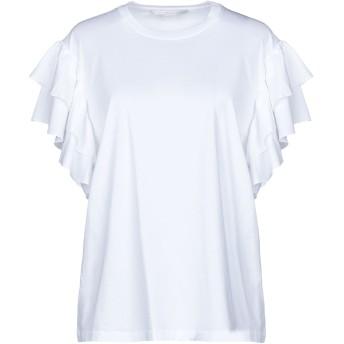 《セール開催中》STELLA McCARTNEY レディース T シャツ ホワイト 38 コットン 100%