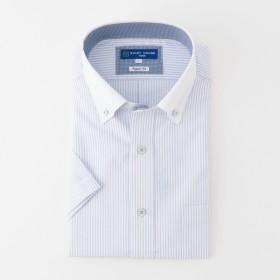 山喜 メンズ SHIRTHOUSE BLUEレーベル 形態安定レギュラーフィットクレリックボタンダウンシャツ