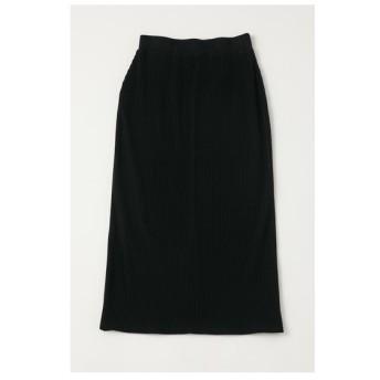 マウジー moussy RIBLONGスカート (ブラック)
