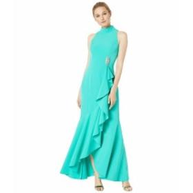 ヴィンスカムート レディース ワンピース トップス Halter Neck Long Sleeve Gown with Ruffle Details Jade