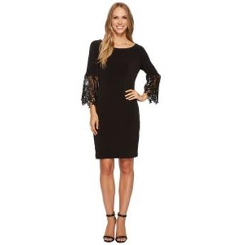 イヴァンカ・トランプ レディース ワンピース トップス Matte Jersey Bell Sleeve Dress Black