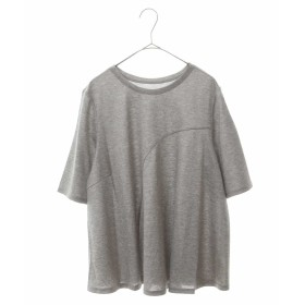 HIROKO BIS GRANDE 【洗濯機で洗える】カーブ切替えカットソー Tシャツ・カットソー,ライトグレー