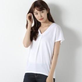 デザインVネックTシャツ