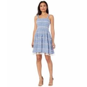 ヴィンスカムート レディース ワンピース トップス Sleeveless Cotton Dress Light Denim