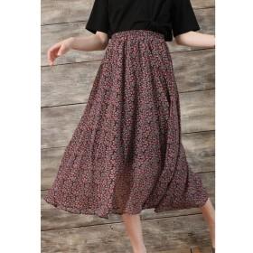 OandI / OandI/オーアンドアイ 花柄シフォンロングスカート