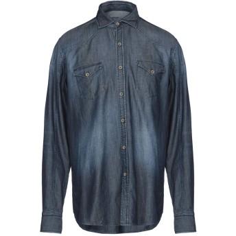 《期間限定 セール開催中》948 ARCHIVIO メンズ デニムシャツ ブルー 42 コットン 100%