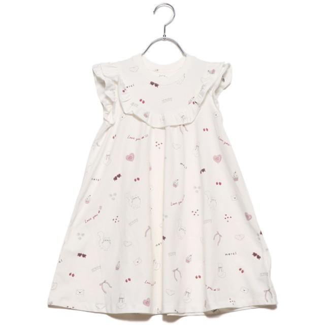 ジェラートピケ gelato pique 【KIDS】ガールズモチーフ kids ドレス (オフホワイト)
