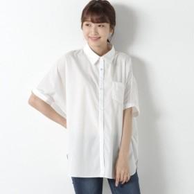 シャツ ブラウス レディース 防汚加工◎ゆったりドルマンシャツ 「オフホワイト」